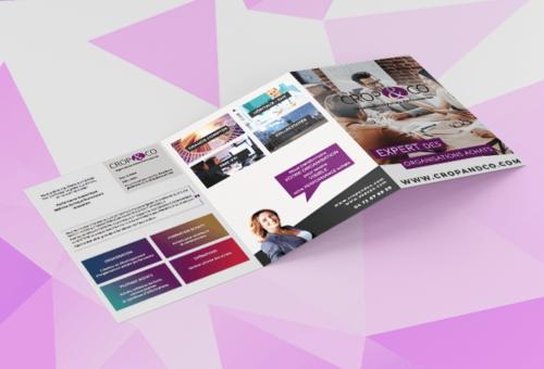 Plaquette tri-folder | Crop and co