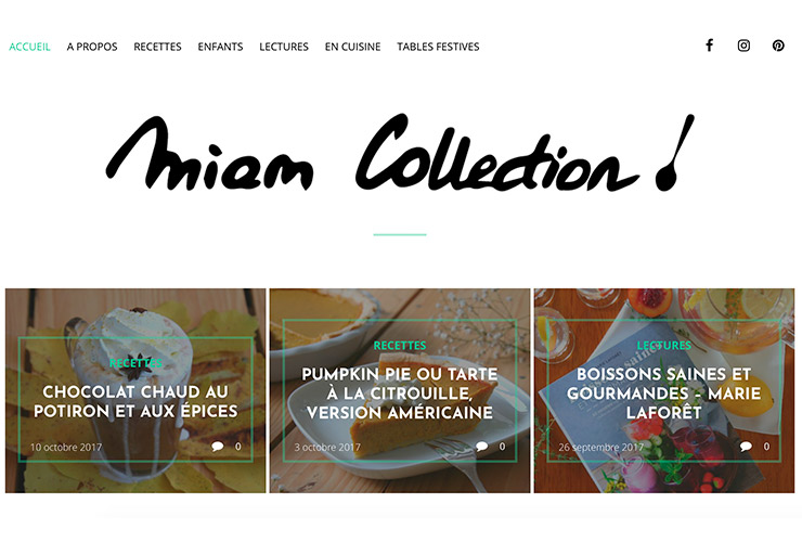 miam collection bloc recette - Miam Collection : Le blog culinaire de l'alimentation équilibrée